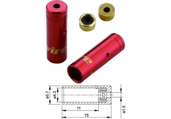 Jagwire Endhülsen für Aussenhülle Schalthülle rot 4mm