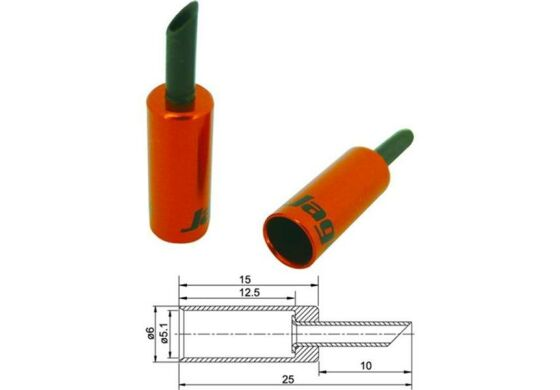 Jagwire Endhülsen für Aussenhülle rot 5mm