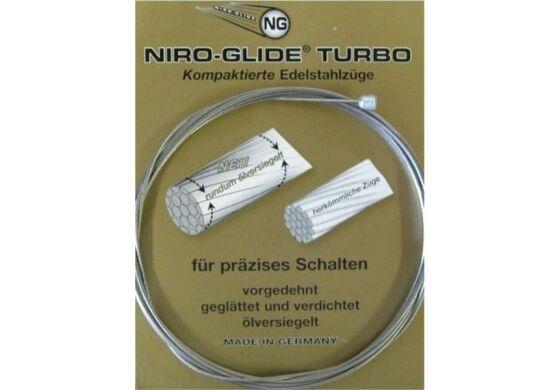 """FASI Niro-Glide Schaltinnenzug """"Turbo"""" Salzresistent und schmutzabweisend, vorgedehnt, geglättet und verdichtet, ölversiegelt mit Brunox Turbo-Spray , extrem gleitfähig und präzise, langlebig (hält über 200 000 Hübe), 2200 mm lang, Ø 1,1 mm, Made in Germ"""
