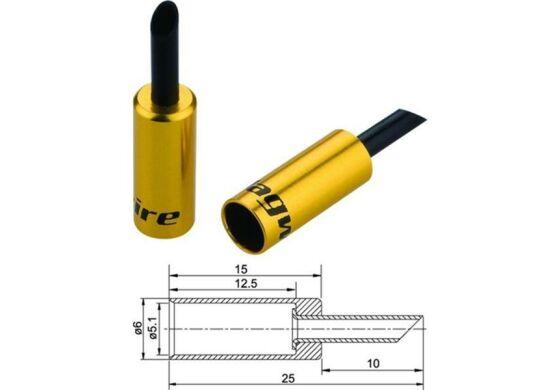 Jagwire Endhülsen für Aussenhülle gold 5mm
