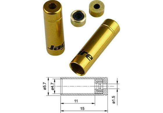 Jagwire Endhülsen für Aussenhülle Schalthülle gold 4,5mm