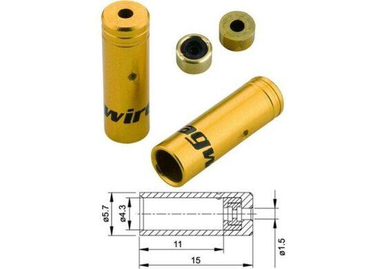 Jagwire Endhülsen für Aussenhülle Schalthülle gold 4mm