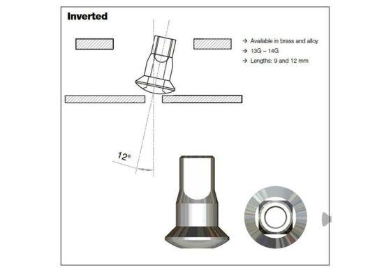 Sapim Polyax Messing SILS Nippel invers 2mm 8,5mm