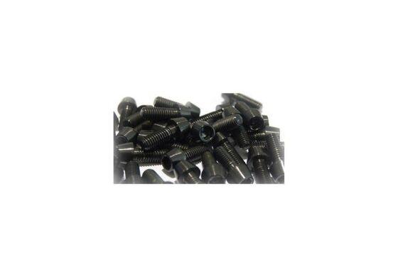 Titanschraube M6 konisch Schwarz 25mm