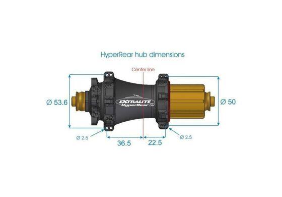 Extralite HyperRear2 164g QR12