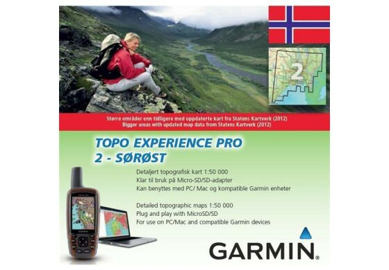 Garmin GPS Karte Topo Experience Pro 2 Sorost - Norwegen