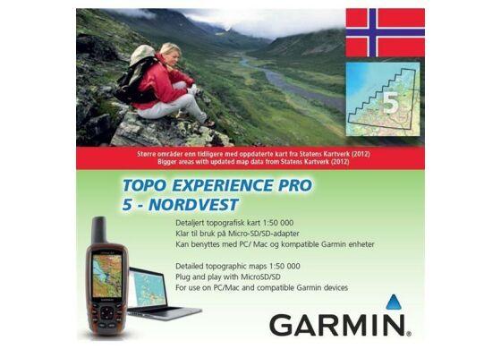 Garmin GPS Karte Topo Experience Pro 5 Nordvest - Norwegen
