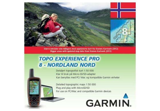 Garmin GPS Karte Topo Experience Pro 8 Nordland Nord - Norwegen