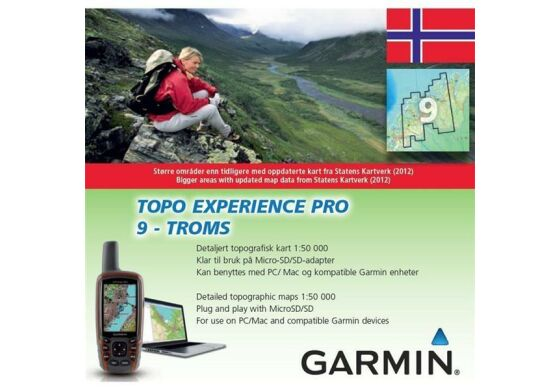 Garmin GPS Karte Topo Experience Pro 9 Troms - Norwegen
