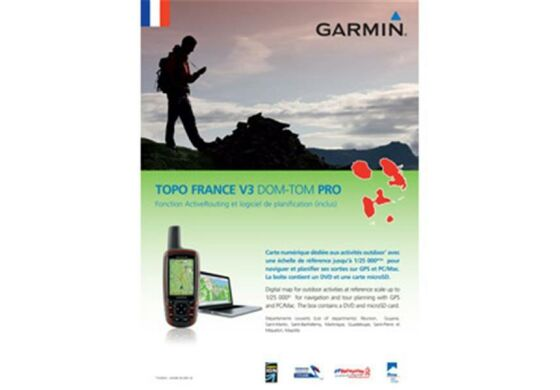 Garmin GPS Karte Topo Frankreich v3 DOM-TOM Pro