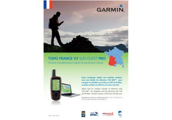 Garmin GPS Karte Topo Frankreich v3 Süd-West Pro