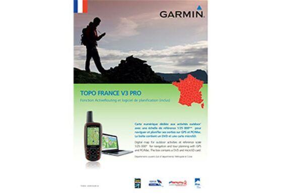 Garmin GPS Karte Topo Frankreich v3 Gesamt Pro