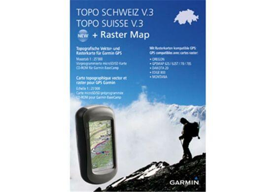 Garmin GPS Karte Topo Schweiz V3 MicroSD