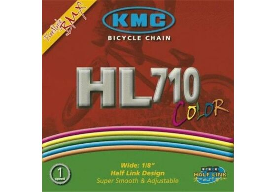 KMC Kette HL710 Color 1-fach weiß 1/2x1/8 100 Glieder HalfLink