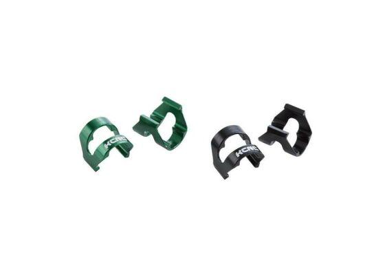 KCNC Kabelhalter-Clips Aluminium Bremsleitungsbefestigung 10Stk grün