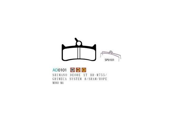 Ashima Semi Metal Bremsbeläge Shimano Deore XT M755 Set 4 Belägen