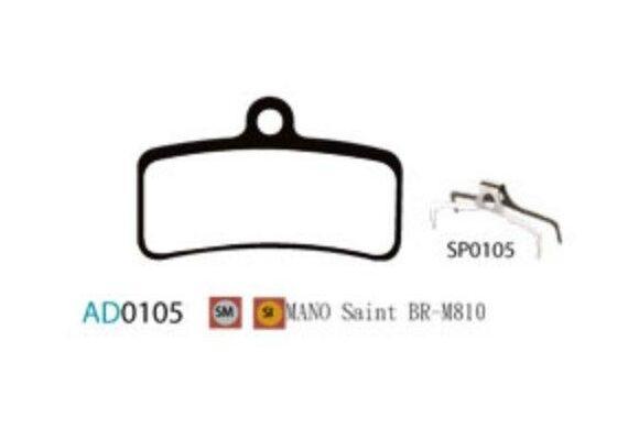 Ashima Bremsbeläge Semi Metal für Shimano Saint BR-M810 Set mit 4 Belägen