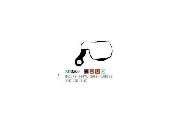 Ashima Bremsbeläge Semi Metal Magura Marta 09- Louise 07- Clara Set 4 Belägen