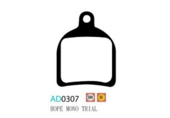 Ashima Bremsbeläge Semi Metal für Hope Mono Trial Set mit 4 Belägen