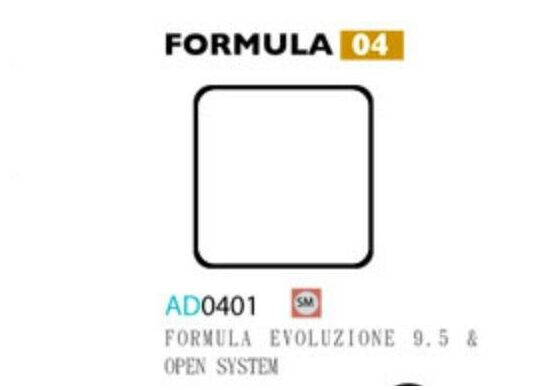 Ashima Bremsbeläge Semi Metal Formula Evoluzione 9.5 Set mit 4 Belägen