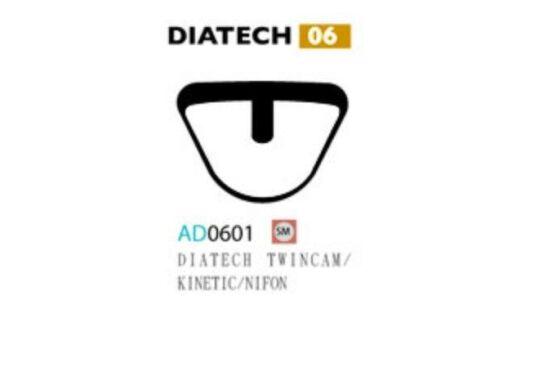 Ashima Bremsbeläge Semi Metal für Diatech Twincam, Kinetic Nifon Set mit 4 Belägen