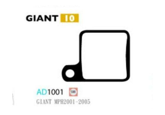 Ashima Bremsbeläge Semi Metal für Giant MPH 2001-05 Set mit 4 Belägen
