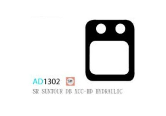 Ashima Bremsbeläge Semi Metal für SR Suntour DB XCC HD Set mit 4 Belägen