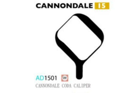 Ashima Bremsbeläge Semi Metal für Cannondale Code Caliper Set mit 4 Belägen