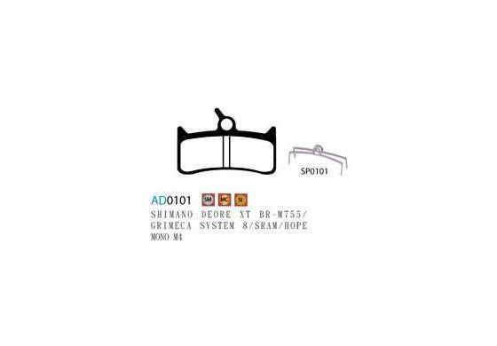 Ashima Bremsbeläge für Shimano XT M755, Hope Mr gesintert set 4 Beläge