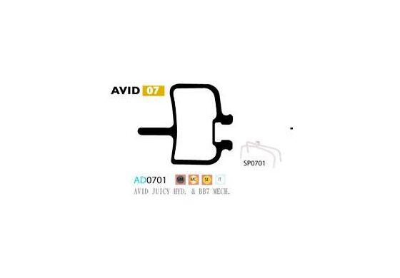Ashima Bremsbeläge für Avid Juicy gesintert Set 4 Beläge