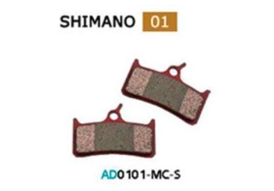 Ashima Bremsbeläge Sint Org Sint Shimano M755 Set mit 4 Belägen