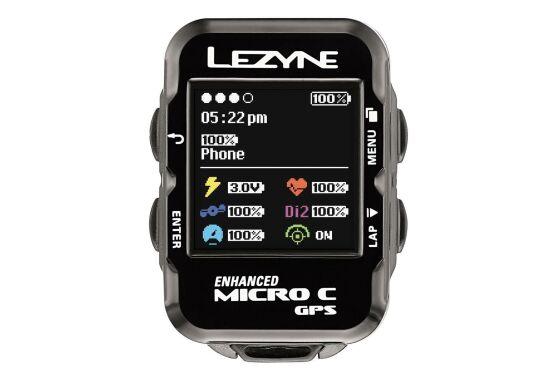 Lezyne Computer Micro Color GPS inkl. Herzfrequenzmessgerät (Brustgurt)