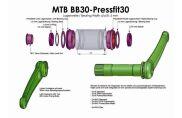BOR Innenlager Kit PF30 (BB30/73 Pressfit)