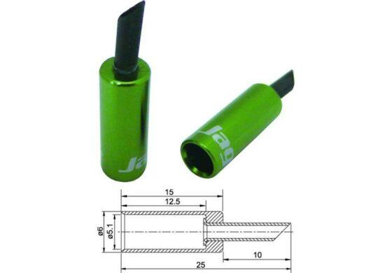 Jagwire Endhülsen für Aussenhülle grün 5mm