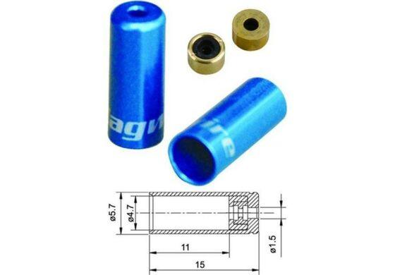 Jagwire Endhülsen für Aussenhülle Schalthülle blau 4,5mm