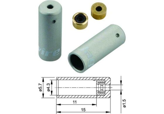 Jagwire Endhülsen für Aussenhülle Schalthülle silber 4mm