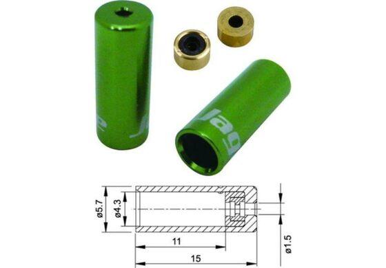 Jagwire Endhülsen für Aussenhülle Schalthülle grün 4mm