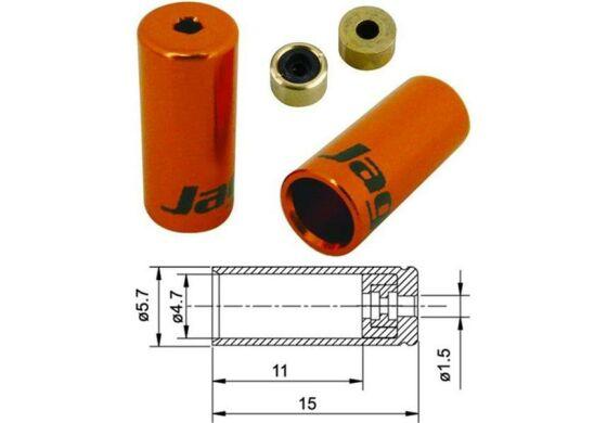 Jagwire Endhülsen für Aussenhülle Schalthülle orange 4mm