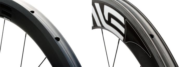 Bremsflächen der Enve Carbon Felgen
