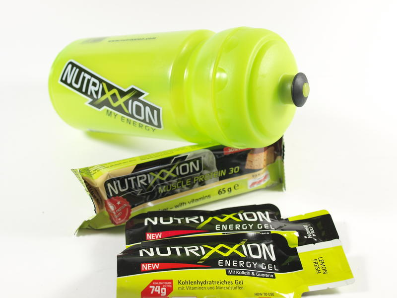 Nutrixxion Gel, Nutrixxion Riegel und Nutrixxion Trinkflasche